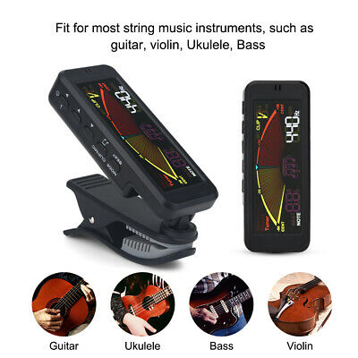 Digital Chromatic LCD Clip-On Electric Tuner for Bass/ Guitar/ Ukulele/ Violin