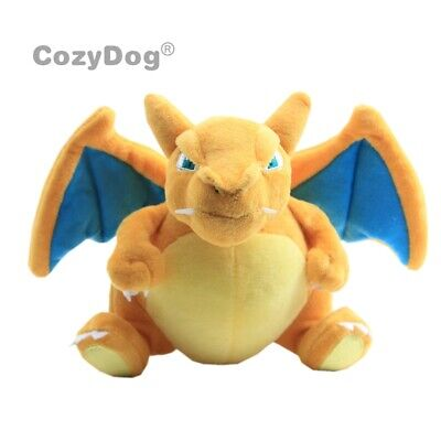 Rare CHARIZARD Pokemon Plush Toy Soft Stuffed Animal Doll 7'' Dragon Xmas Gift