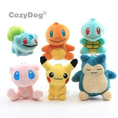SO Cute Pokemon Plush Keychain Pikachu Snorlax Mew Bulbasure Charmander Squirtle