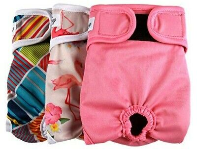 JoyDaog Dog Nappies Female (3 Pack) Washable Reusable Doggie Diapers. Brand new.