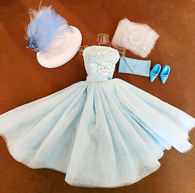 Barbie Fashion Blue Party Dress Pure Mint!   Free Extras  Xmas Special!