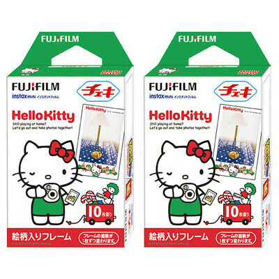 2 Packs 20 Photos Hello Kitty FujiFilm Fuji Instax Mini Film Polaroid 7S Liplay