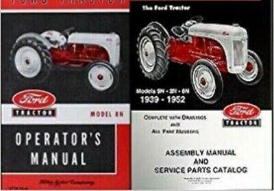 Ford 9N 2N 8N Tractor Assembly Parts Manual Catalog Exploded View 1939-1952