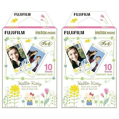 2 Packs 20 Photos Hello Kitty Fuji FujiFilm Instax Mini Film Polaroid 7S Liplay