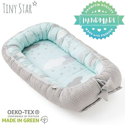 Baby Sleeping Pod Newborn Nest Travel Cot Double Sided Reducer Tiny Star 0 – 6 m