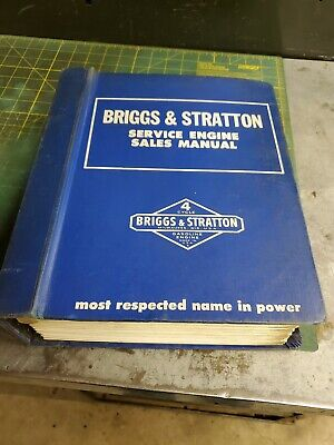 Briggs and Stratton Service Engine Sales Manual