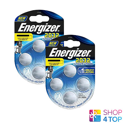 8 Energizer Cr2032 Ultimate Lithium Batteries 3V Coin Cell Dl2032 Exp 2026 New