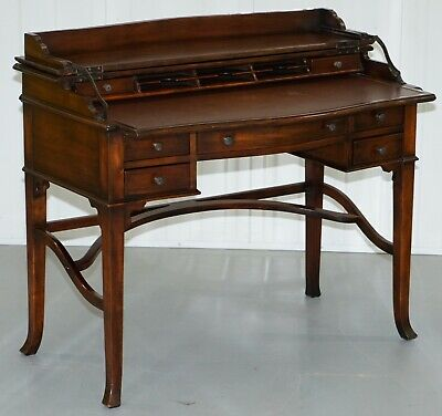 Rrp £2000 Theodore Alexander Military Campaign Extending Desk Table Bureau Nice!