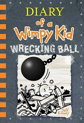 Wrecking Ball Diary of a Wimpy Kid Book 14 Hardcover Kids Series Children Gift