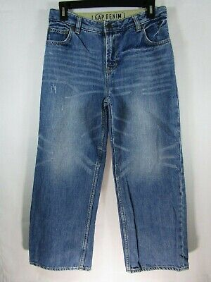 ///Gap Boys Size 10 Husky Loose Fit Blue Jeans Medium Wash 5 Pockets