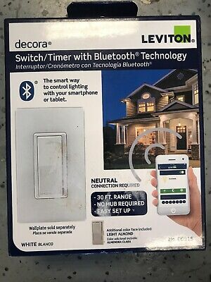 Leviton 15 Amp 120-Volt Decora Digital Switch Timer Bluetooth Technology DDS15