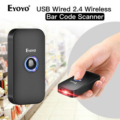 Eyoyo Bluetooth & USB Wired & 2.4G Wireless 1D Laser Barcode Scanner