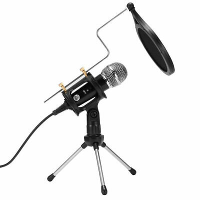 Condenser Microphone w/ Tripod Stand for Game Chat PC Studio Recording Computer