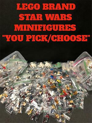 """Authentic Lego Brand Star Wars Character Minifigure """"You Pick/Choose"""" Genuine"""