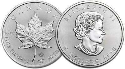 2016 Canadian Maple Leaf 1oz .9999 Silver Coin monster box available in Bondi