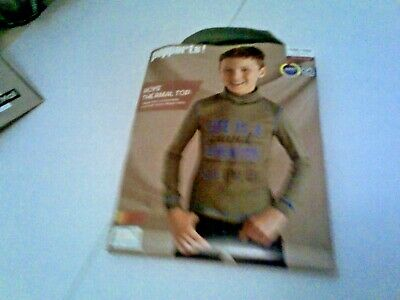 New pepperts high neck thermal green long Sleeve Top 10 - 11 - 12 years