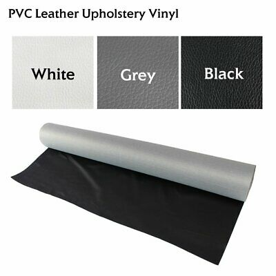 "Vinyl Fabric Faux Leather Sheets Craft Marine Auto Reupholstery Replace 54"" Wide"