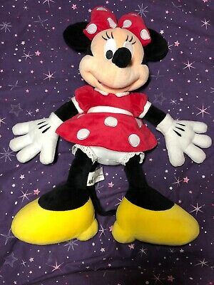 "Disney Parks Minnie Mouse Plush Soft Toy Teddy VGC 18"" Girls Bedroom Christmas"