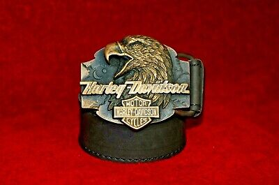 Vintage bronze brass Eagle Harley Davidson belt buckles exclusive handmade gifts