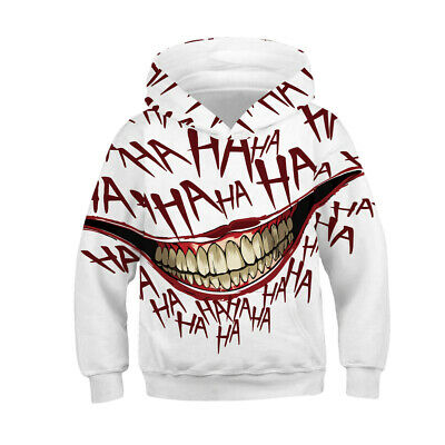 Childrens Kids Girls Boys Unisex Creepy IT Halloween Dark Venom Sweater Hoodie