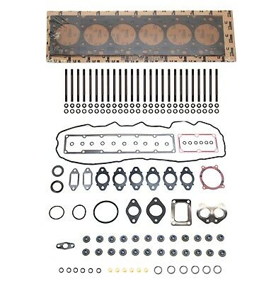 Cylinder Head Studs & Gasket Set For 07.5-16 Dodge Ram 6.7 6.7L Cummins Diesel