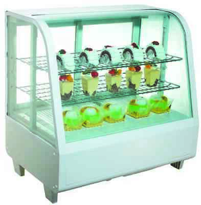 Showroom Commercial Chilled Cool Counter Bench Top Food Cake Display Fridge 100L