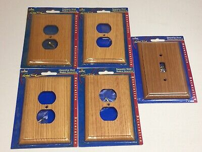Leviton Decorative Wood Wall Plate Socket Light Switch Outlet Covers