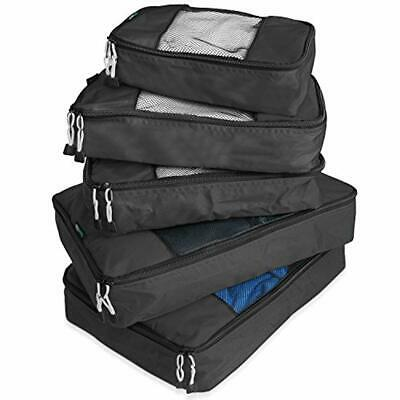 SET OF 5 Packing Cube System Luggage Organizer Set Pack Travel Storage Bags NEW