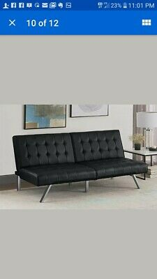Admirable Dhp Emily Convertible Futon Sofa Bed Gray Home Furniture Short Links Chair Design For Home Short Linksinfo