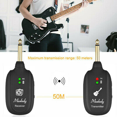 Muslady UHF Guitar Wireless System Transmitter Receiver Max. 50M D3K6