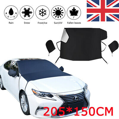 Car Windscreen Mirror Windshield Cover Frost Ice Snow Sun Dust Screen Protector