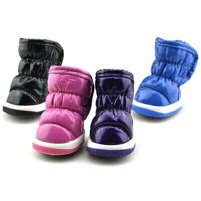 Pet Dog Winter Snow Boots Puppy Anti-slip Warm Shoes Waterproof Sneakers Booties