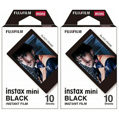 2 Packs 20 Photos Black Frame FujiFilm Fuji Instax Mini Film Polaroid 7S Liplay