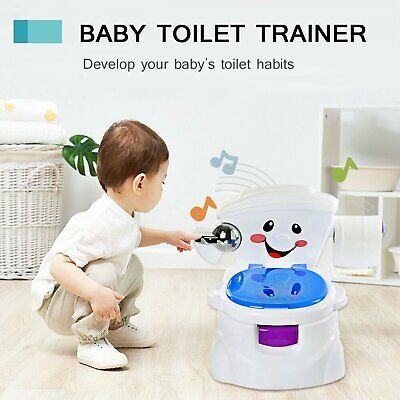 Baby Toilet Trainer Child Toddler Kid Music Seat Fun Potty Training Chair Safety