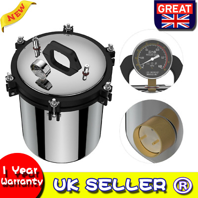 18L 2KW 220V Pressure Steam Autoclave Sterilizer Dental Equipment Dual Heating