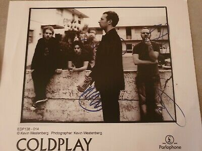 Coldplay  Fully Signed 10 X 8
