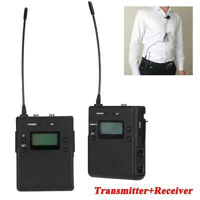 P1 Wireless UHF Lapel Microphone Lavalier Mic Transmitter Receiver Set System