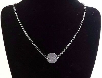 Personalised Hand Stamped 2 / 3 Name Initial Letter Necklace Chain Love Pendant