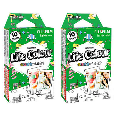 2 Packs 20 Photos Life Colour FujiFilm Fuji Instax Mini Film Polaroid 7S Liplay