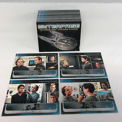 Star Trek Enterprise Series 1 - Complete 81 Card SET - 2002- NM