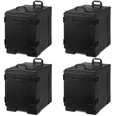 4 Pack End-Loading Insulated Food Pan Carrier Hot & Cold 5 Pan Capacity w/Handle