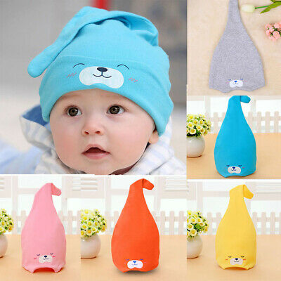 Toddler Kids Baby Hats Girls Boys Cartoon Beanie Cotton Sleep Cap Headwear Hats