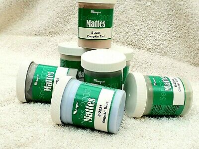 Mayco S2000 Matte Glaze x 2~Choose (TWO x 118ml) Jars~Various Colours available