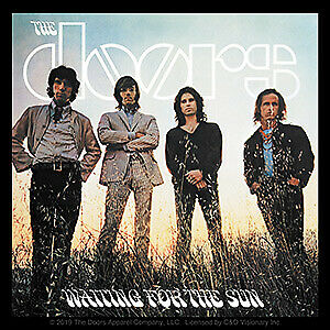 "DOORS WAITING FOR THE SUN ALBUM - Orignal Artwork Vinyl, Decal STICKER - 4"" x 4"""