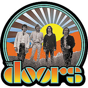 "DOORS WAITING FOR THE SUN - Orignal Artwork Vinyl - Decal STICKER - 4.3"" x 4.5"""