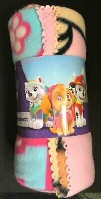New Girls Paw Patrol Skye Super Soft Fleece Blanket Throw - Official Nickelodeon