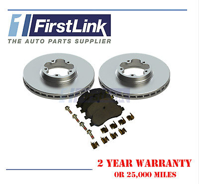 Ford Transit Tourneo 2.2 TDCi Bus 129 Front Brake Pads Discs 280mm Vented