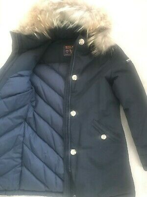Woolrich Girl 12  Luxury Parka Midnight Blue Exscellent condition like new
