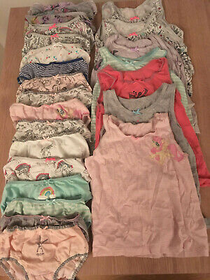 Large Bundle Of Next Girls Knickers & Vests Age 5-6 Yrs Unicorns My Little Pony