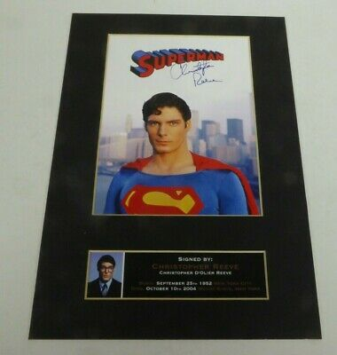 Superman II Christopher Reeve Signed Autographed A4 Print Photo Movie Film 2